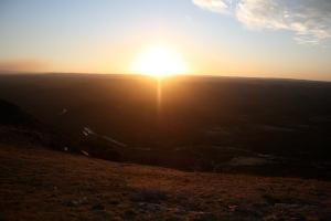 Sunset from Cuchi Corral, La Cumbre