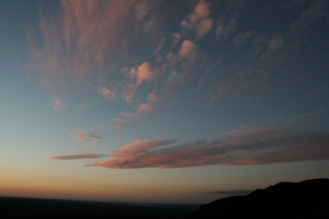 Vast skies at sunset, La Cumbre