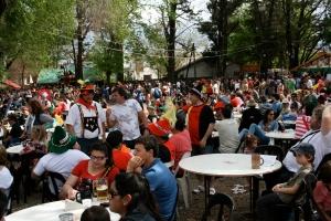 Huge crowds at Oktoberfest, Villa General Belgrano