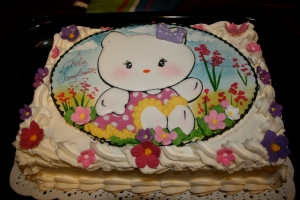 Molly's 4th birthday cake in Bariloche