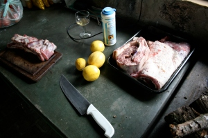 The beauty that was the beginning of our asado on Sunday.