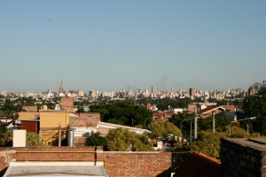 The view of downtown Cordoba from our rooftop in Barrio Urca