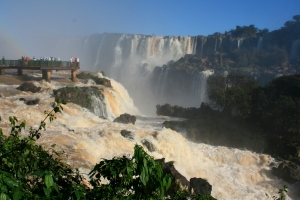 Brazilian views of Iguassu are more panoramic while Argentine tend to be more up close